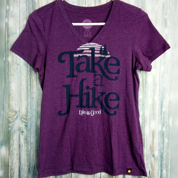 Life Is Good Tops - Life is good Take a Hike short sleeve grahic tee